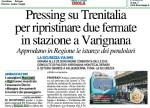 Marchetti (PD): Pressing su Trenitalia per ripristinare due fermate in stazione a Varignana