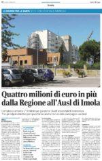 """Rassegna stampa. """"Quattro milioni di euro in più dalla Regione all'Ausl Imola"""""""