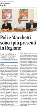 """Rassegna stampa. """"Poli e Marchetti sono i più presenti in Regione"""""""