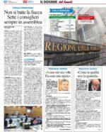 """Rassegna stampa. """"Emilia Romagna. Non si batte la fiacca. Sette i consiglieri sempre in assemblea"""""""