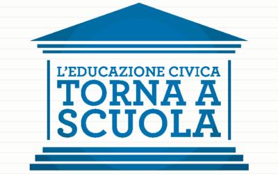 L'EDUCAZIONE CIVICA TORNA NELLE SCUOLE!