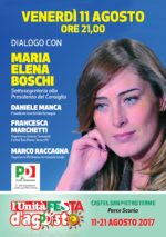 Festa dell'Unità con Maria Elena Boschi