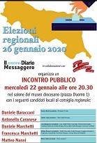 Incontro pubblico – Elezioni regionali 26 gennaio 2020