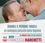 Disabili e persone fragili: un sostegno concreto dalla Regione