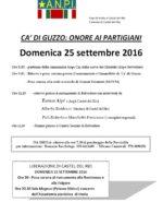 CA' Di Guzzo: onore ai Partigiani