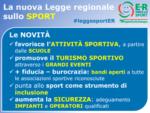 In Emilia-Romagna vince lo sport. Ecco la nuova legge regionale: più praticanti, attività e sicurezza. 20 milioni per gli impianti