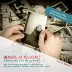 Memoria e Storia del '900. Nuovo bando da 300 mila euro per progetti e iniziative di associazioni, fondazioni ed enti locali