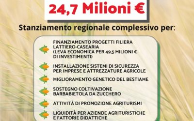 Agricoltura, il sostegno è legge: sì alla norma che stanzia 24 milioni di euro per la ripresa del settore