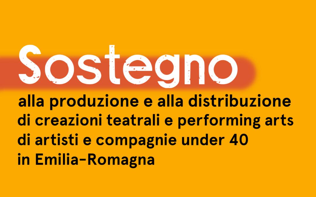 Sostegno alle creazioni teatrali e di performing arts di artisti e compagnie under 40 in Emilia-Romagna: ecco i progetti selezionati