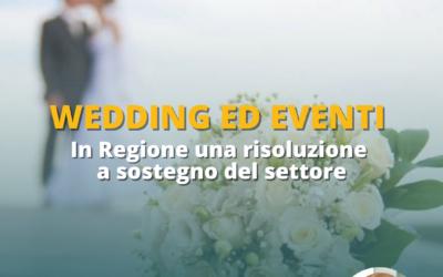 IN REGIONE SOSTEGNO ALL'INDUSTRIA DEL WEDDING E DEGLI EVENTI