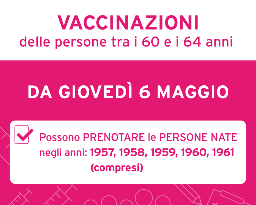 Vaccinazioni, l'Emilia-Romagna accelera ancora: da domani prenotazioni per i 60-64enni, entro maggio i 55-59enni